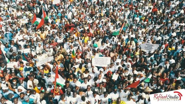 Sénégal : plus d'un millier de manifestants dans la rue pour soutenir la cause palestinienne