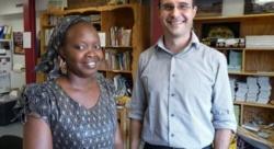 Maïmouna Ndiaye et Nicolas Dupuy, coordinateur de l'association Partenariat au Sénégal.