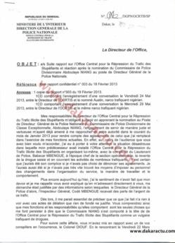 Révélations du Commissaire Cheikhna Keïta : L'alerte envoyée au Ministre de l'intérieur pour prévenir une nomination périlleuse du Commissaire Niang comme DGPN. (DOCUMENTS)