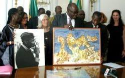 Le Sénégal héritier d'Iba Ndiaye, peintre, natif de Saint-Louis.