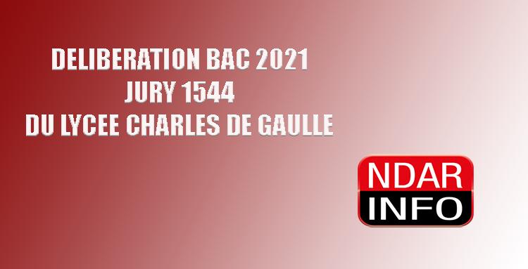 BAC 2021 : Tous les résultats du Jury 1544 du Lycée Charles De Gaulle