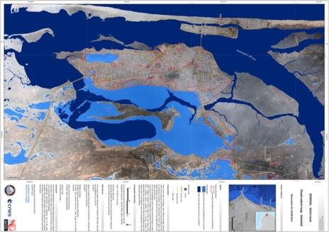 Les Inondations à Saint-Louis vues par satellite (Cnes France)