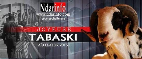 Ndarinfo vous souhaite une Bonne fête de Tabaski. Dewenety !