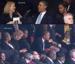 PHOTO. Le selfie qui énerve Michelle Obama (selon les internautes).