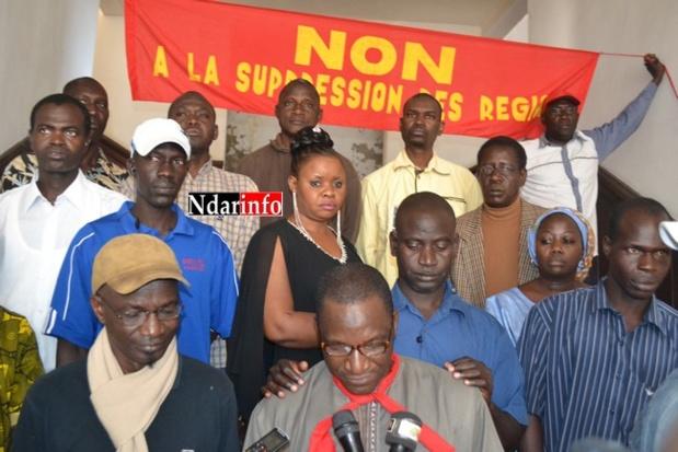 """""""L'acte III de la décentralisation, c'est l'acte zéro », crient les travailleurs des Conseils régionaux qui annoncent une marche contre le ministère de la décentralisation."""