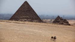La grande pyramide de Gizeh, construite par Khéops. © ap.