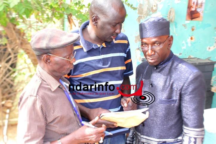 """Me Ibrahima Diop, présdient de l'association Saint-Louis Jazz, Fara Tall, vice-président et """"Prési"""" chargé du protocole"""
