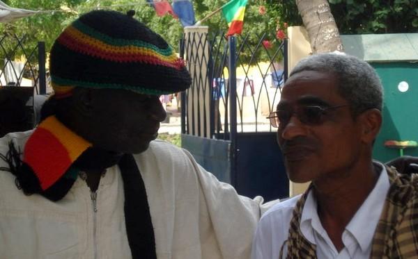 "Charles CAMARA avec Pape Samba SOW ""Zoumba"", en mai 2011, à l'Institut Francais"