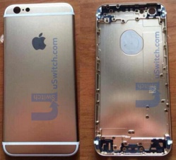 iPhone 6 : photos de la coque arrière avec le logo Apple incrusté