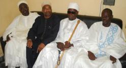 De gauche à la droite: L'Imam Mouhammedou Abdallah CISSE, le Professeur Maguèye Seck, Zeynou Habidine DIOP et l'adjoint au gouverneur Boubabcar BA