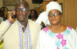 M.Ibrahima DIAO en compagnie de son épouse Mme Mariétou Sogue DIAO, 1ère secrétaire du Conseil départemental.
