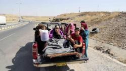 Réfugiés irakien à la frontière turque, au nord du pays. © ap.