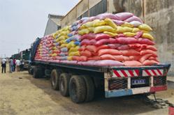 Vivres de soudure: 40 à 45 tonnes de riz transformées par jour à Ross Béthio