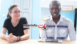"Fara NDIAYE et Sophie MORIN au centre ""Yakaru Guneyi"""