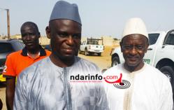 Mansour FAYE, Mamadou DIA, Dg de la SDE et le Conseiller municipal Mbaye NDIAYE, à Pikine Diokoul