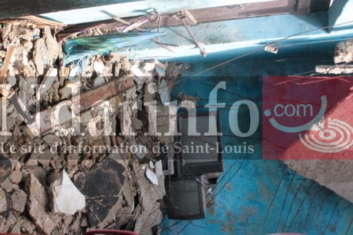 Saint-Louis : Une boutique s'éffrondre dans le quarter nord. (vidéo)