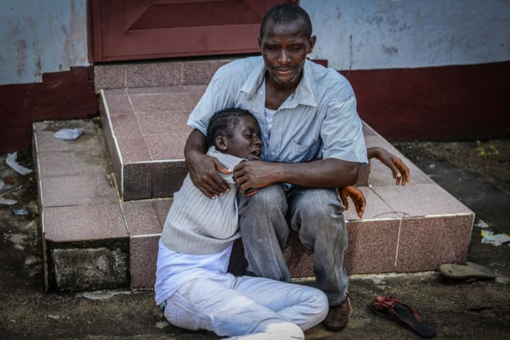 Une famille décimée par le virus Ebola. Monrovia, au Libéria le 10 Octobre, 2014 (Photo: Mohammed Elshamy / Anadolu Agency / Getty Images)