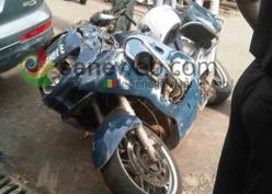 Tournée de Macky : Un motard de la gendarmerie fait un choc à Ourossogui.