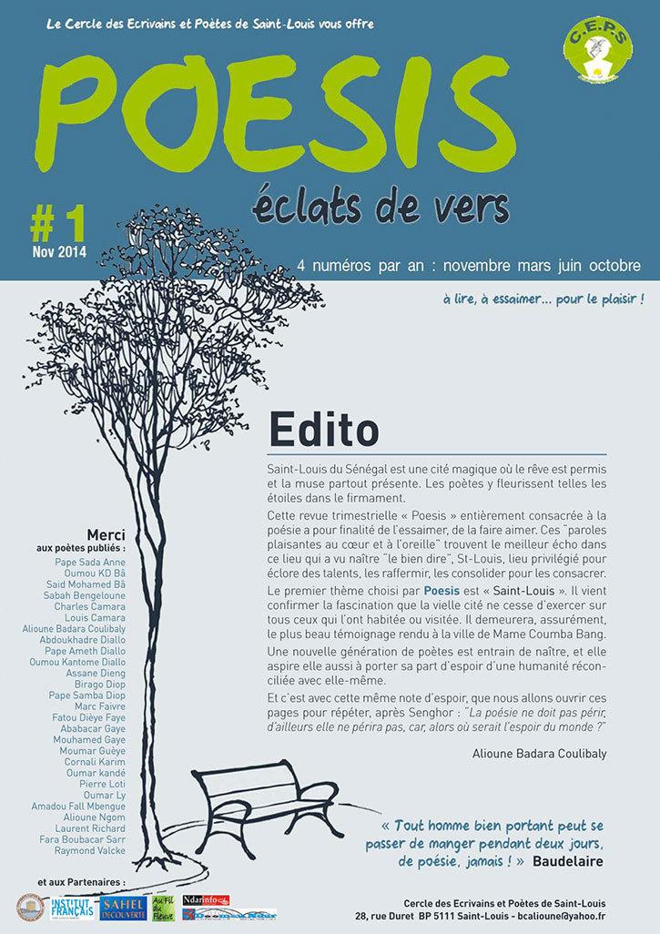 """SAINT-LOUIS - CULTURE: """"Poésis"""", la nouvelle revue trimestrielle du CEPS."""