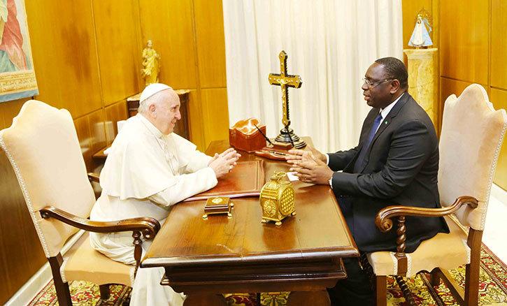Macky SALL reçu en audience par le Pape au Vatican (photos)