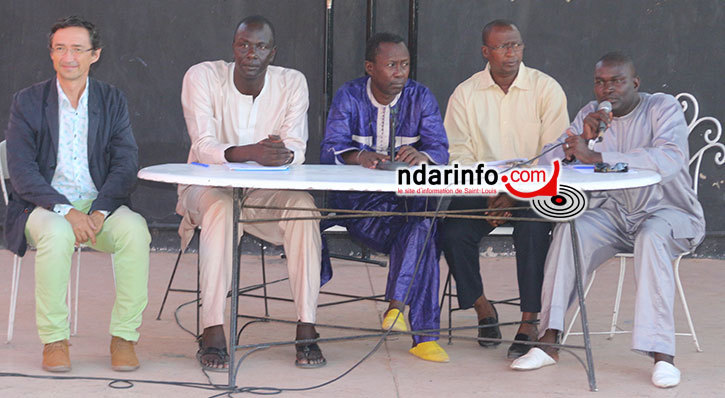 "Thierry DESSOLAS (IFSL), Mor FAYE (UGB), Abou THIAM "" Ngaari Laaw"", Moustapha NDIAYE ( CCRAF) et Madické DIAGNE ( Olag)"