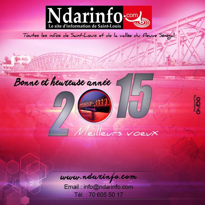 Ndarinfo.com vous souhaite une excellente année 2015 !