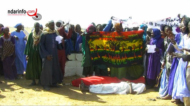 Image prise au cours de la manifestation de ce mercredi à GNITH