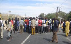 Manifestation de colère des populations après l'accident