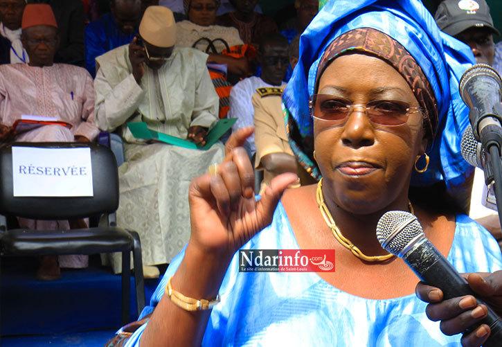 Khoudia MBAYE au cours de son discours de bienvenue ce vendredi, à Gandon