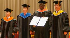 Macky Sall, docteur honoris causa de l'université nationale de Pukyong, en Corée du Sud