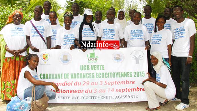 VACANCES ÉCOCITOYENNES : L'UGB VERTE va dérouler des actions multiformes au Parc National de la Langue de Barbarie.