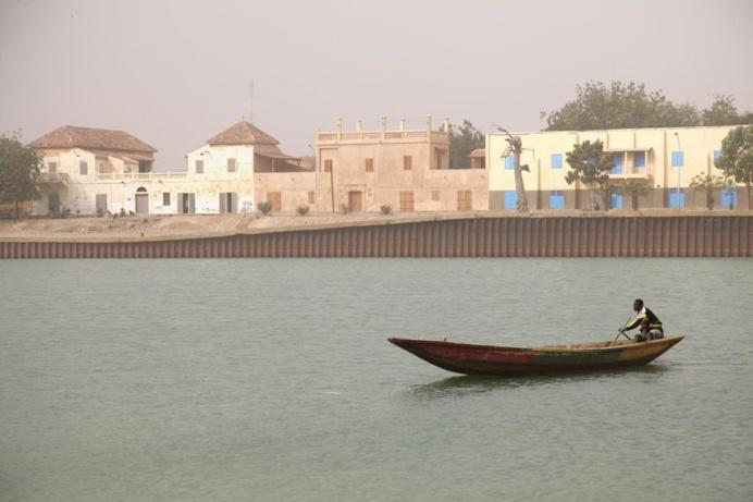 Le fleuve Sénégal face à Podor. Photo Nicolas Thibaut. Getty Images.