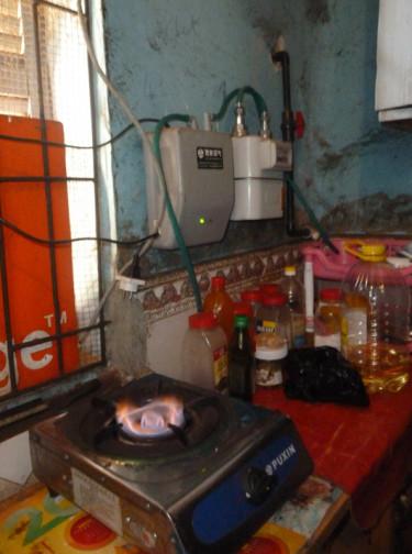 Le biogaz produit à l'abattoir de Saint-Louis est actuellement consommé par cinq ménages.