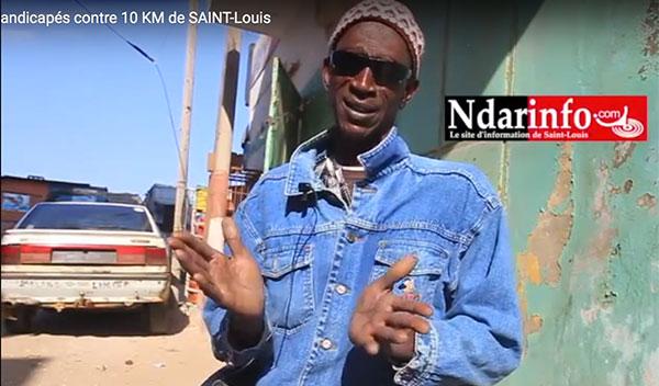 Atoumane Kane SY. porte-parole de l'association des personnes handicapées de Saint-Louis