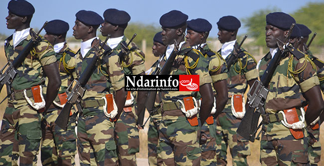 Soldats du 12e Bataillon d'instruction. SOurce Photo: Ndarinfo.com