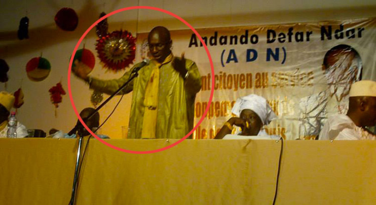 Adama Kane DIALLO à la rentrée solonelle de l'ADN vant sa demission de ce mouvement. Source Photo: facebook.com
