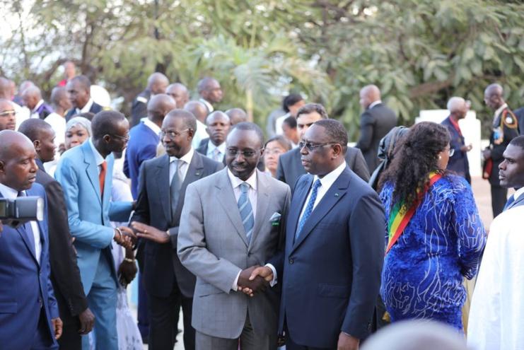 (Photos) Le couple présidentiel présente ses voeux 2016 au Palais de la République