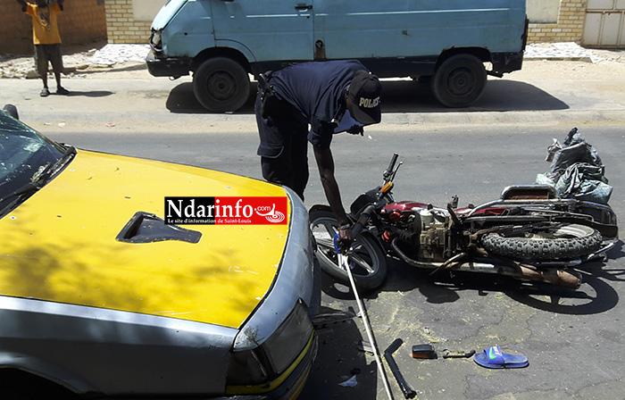 URGENT - SAINT-LOUIS:  Accident sur la route de l'Isra.