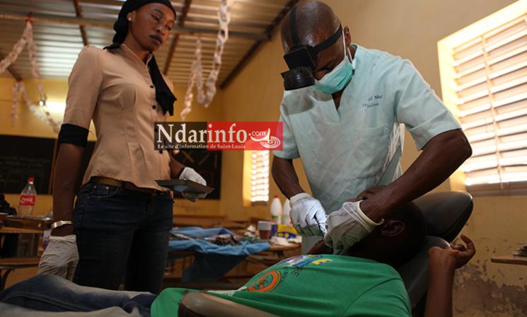 Un élève en traitement à l'école 1 de Ross-Béthio