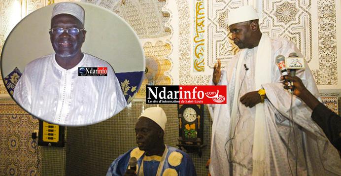 Abdoulaye Chimère DIAW préside l'assemblée générale de la Grande Mosquée de Saint-Louis, ce 29 mai 2016.