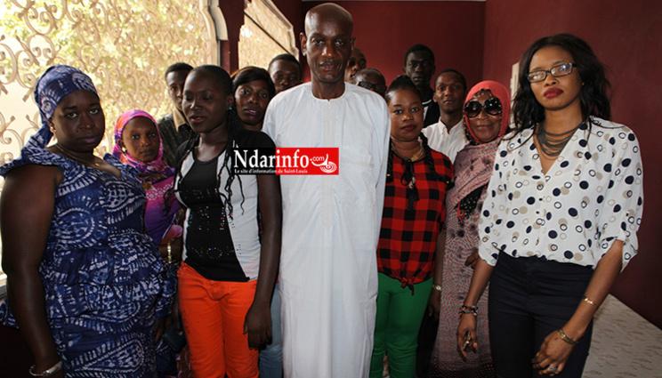 Le coordonnateur du Mouvement AM JAM avec la coordination des jeunes.