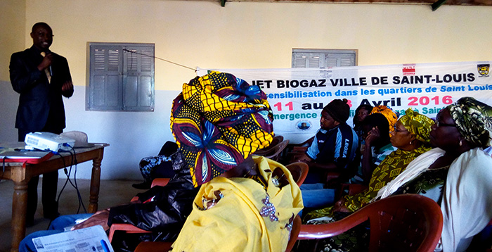 Projet Biogaz Ville de Saint-Louis : Cinq quartiers sensibilisés par Le Partenariat.