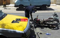 Saint-Louis : un blessé après une collision entre un scooter et un véhicule.