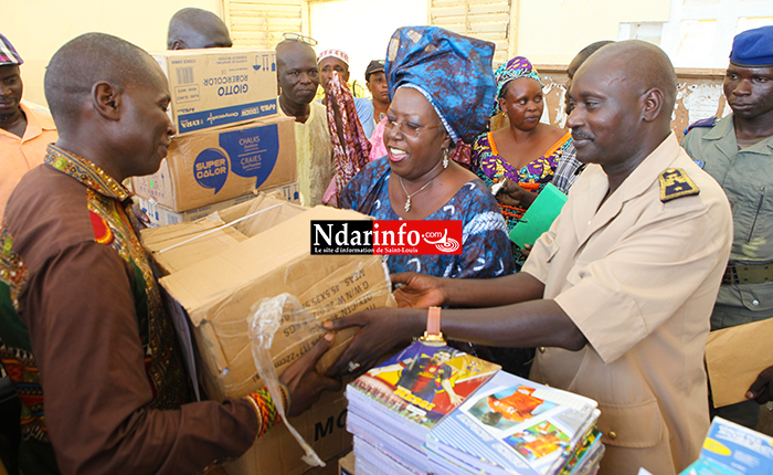 GANDON : Khoudia MBAYE distribue 11 millions FCFA de fournitures scolaires aux écoles (vidéo)