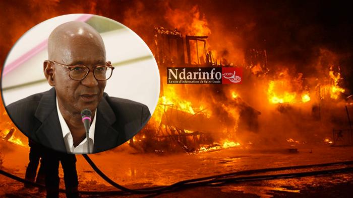 Un violent incendie emporte les biens de l'écrivain Louis CAMARA.