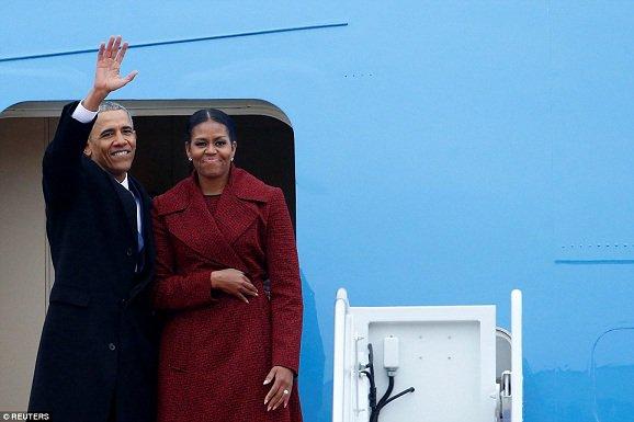 ( Photos ) Obama quitte Washington après huit ans à la Maison Blanche