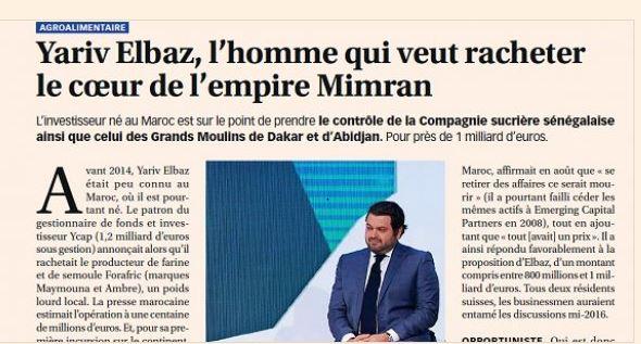 CSS et Grands Moulins de Dakar: Qui est l'acheteur des filiales agroalimentaires du groupe Mimran ?