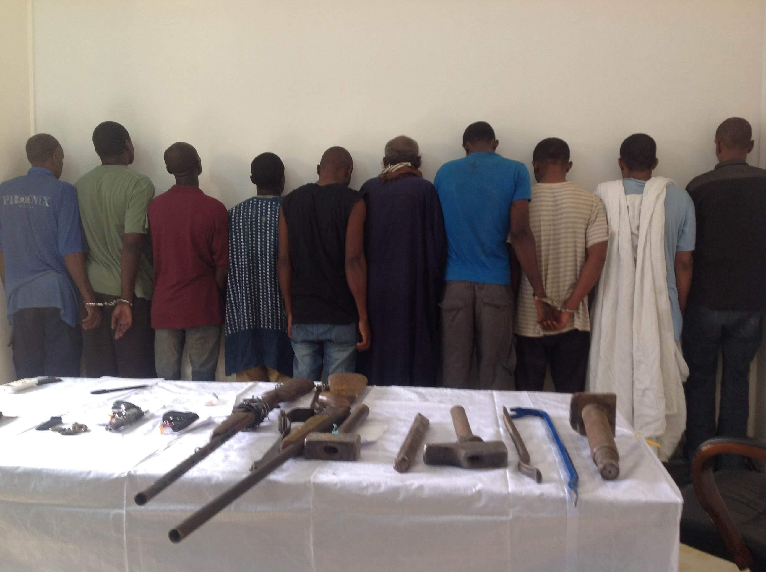 Dakar : démantèlement d'une bande de dix malfaiteurs à Thiaroye