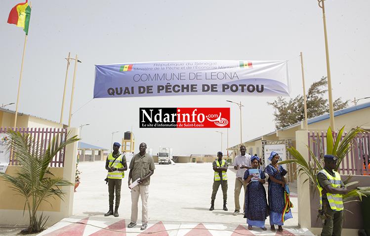 Construction du Quai de pêche de POTOU : l'État salue le professionnalisme de l'entrepreneur Saint-Louisien Ibrahima FALL (Photos)