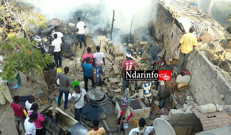Photo amateur de l'incendie prise par une de nos lectrices